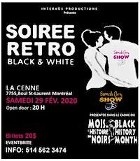 SOIRÉE RÉTRO BLACK & WHITE billets