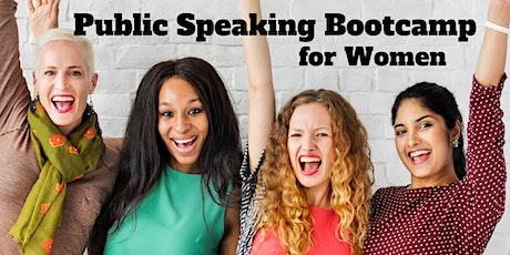 """Public Speaking Bootcamp for Women"" tickets"