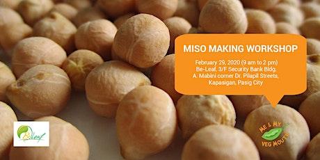 Miso Making Workshop tickets