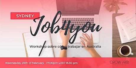 SYDNEY |  WORKSHOP | JOB4YOU tickets