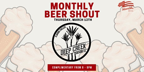 Deep Creek Brewing - Monthly Beer Shout tickets