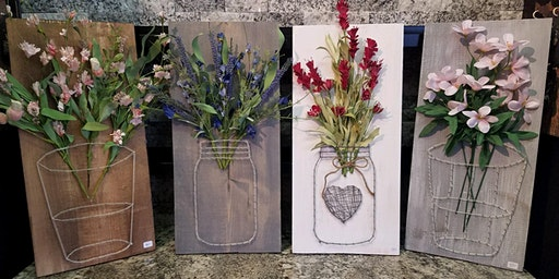 Mason Jar String Art Stone & Pallet™ Schererville - Eco-friendly Home Goods made by YOU!