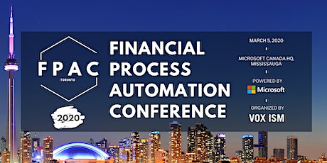 Toronto Financial Conference | FPAC 2020 tickets