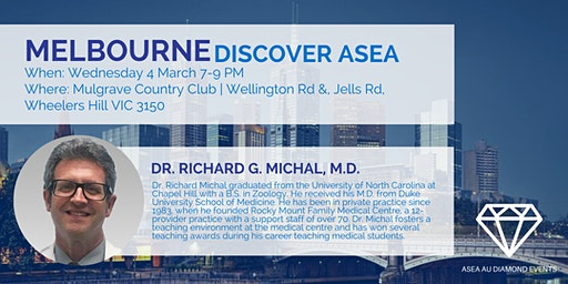 Melbourne Discover ASEA with Dr Rich Michal