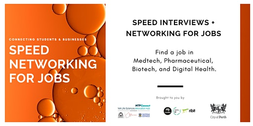 Life Science Speed Networking for Jobs -  Perth, WA (Student Registration)