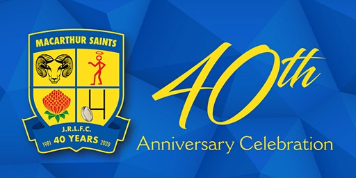 Macarthur Saints JRLFC 40th Anniversary Dinner