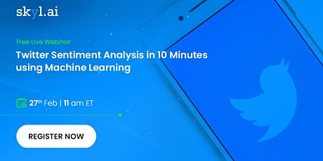 Twitter Sentiment Analysis in 10 Minutes with Machine Learning bilhetes