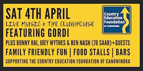 Live music @ The Clubhouse | Country Education Foundation of Canowindra tickets