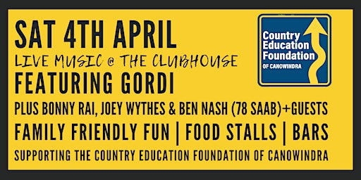 Live music @ The Clubhouse | Country Education Foundation of Canowindra