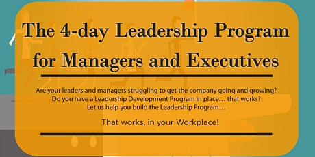 The 4-day Leadership Program for Managers and Executives tickets