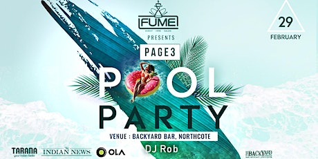 PAGE3 POOL PARTY tickets