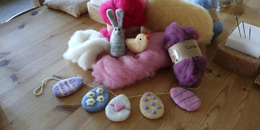 Needle Felting Taster Session: Easter Bunting and Decorations