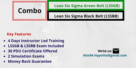 LSSGB And LSSBB Combo Training Course In Augusta, ME tickets