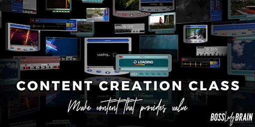 Content Creation Class