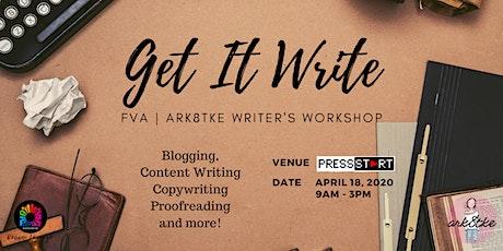 Get It Write: FVA   Ark8tke Writer's Workshop tickets
