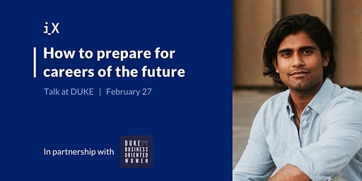 How to Prepare for Careers of the Future - Talk at Duke