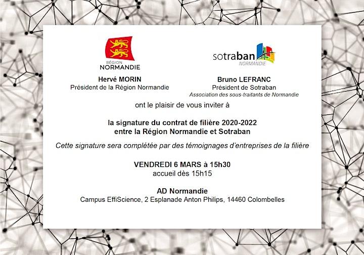 Image pour Signature contrat de filière SOTRABAN - Région Normandie