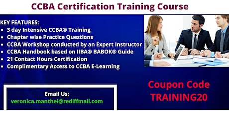 CCBA Certification Training in Des Moines, IA tickets