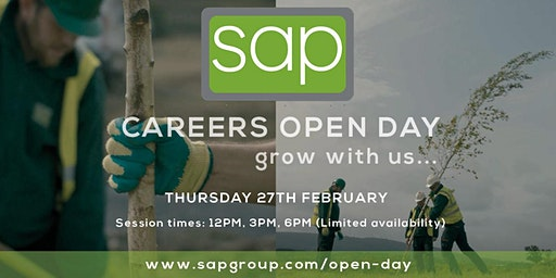 Careers Open Day 2020 at SAP Landscapes - 12PM Session