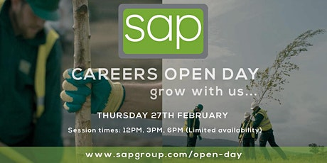Careers Open Day 2020 at SAP Landscapes - 3PM Session tickets