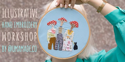 Illustrative Hand Embroidery Workshop by Umamade / Stitching on Clothing