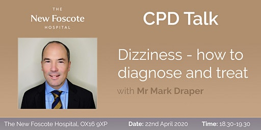 CPD Talk - Dizziness - how to diagnose and treat