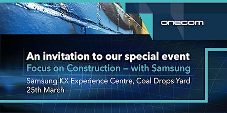 Focus on Construction - with Samsung tickets