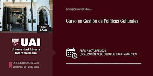 CURSO EN GESTIÓN DE POLÍTICAS CULTURALES -MARZO-