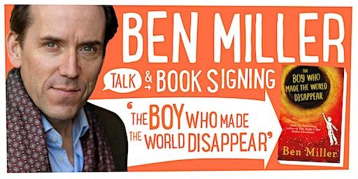 BEN MILLER Talk & Book Signing