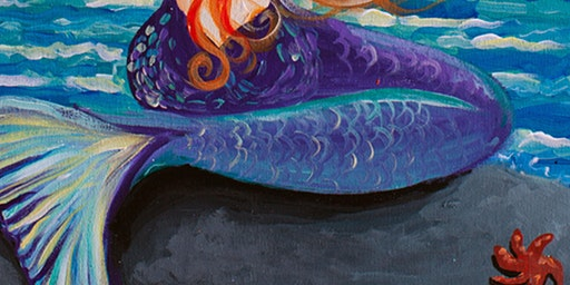 Coffee & Canvas Monday - Learn to paint 'Mermaid Wishes' @ The COFFEE CLUB  Birtinya