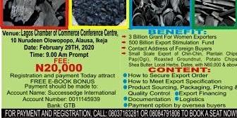 Charcoal Export Seminar