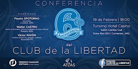 Conferencia 6to. Aniversario - Club de La Libertad entradas