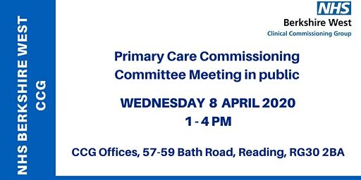 Primary Care Commissioning Committee (PCCC) - 8 April 2020