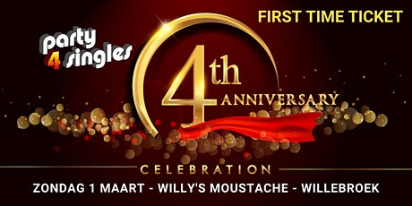 Party4singles | First Time Ticket | ZONDAG 1 MAART | Willy's Moustache tickets