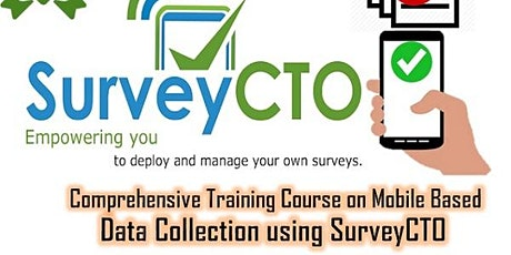 Comprehensive Training Course on Mobile Based Data Collection using SurveyC tickets