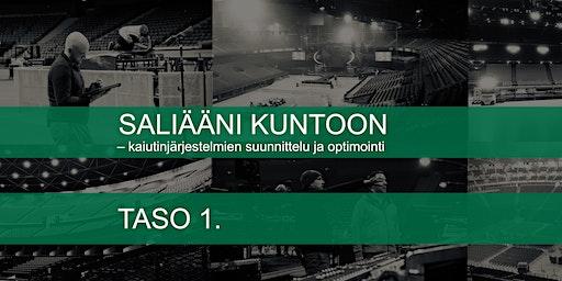 SALIÄÄNI KUNTOON – kaiutinjärjestelmien suunnittelu ja optimointi, taso 1
