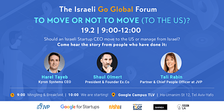 Should an Israeli Startup CEO move to the US or manage from Israel? tickets