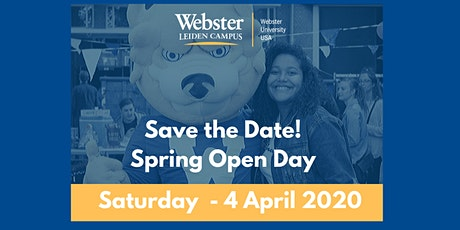 Open Day Spring 2020 at Webster Leiden Campus tickets