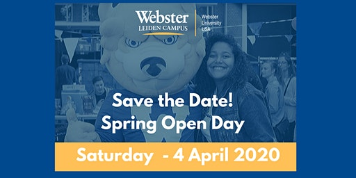 Open Day Spring 2020 at Webster Leiden Campus