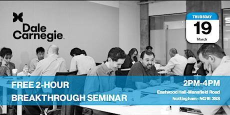 Breakthrough Seminar for Senior Managers tickets