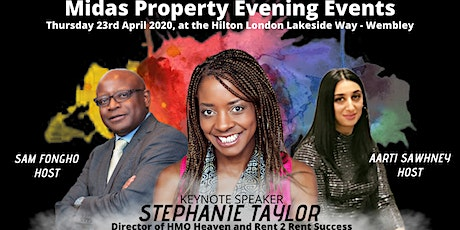 The 23rd April Midas Property Evening Events Keynote Speaker Stephanie Taylor tickets