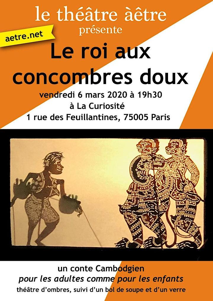 Image pour Veillée et Théâtre d'ombres - Le Roi aux Concombres doux