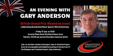 An Evening with Gary Anderson at the British Grand Prix tickets