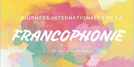 Journées Internationales de la Francophonie de Clermont-Ferrand  2020 billets