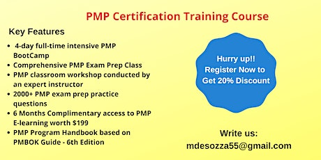 PMP Exam Prep Training in Albany, CA tickets