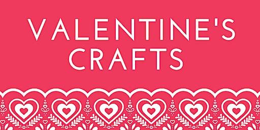 Valentine's Crafts at Cramlington Library