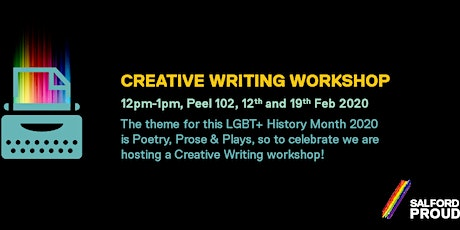 LGBT History Month Creative Writing Workshops tickets