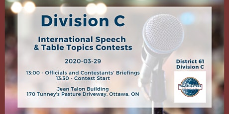 Division C International Speech & Table Topics Contests tickets