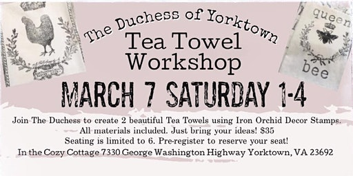 Tea Towel Workshop
