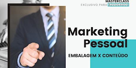 Masterclass Marketing Pessoal para Advogados ingressos